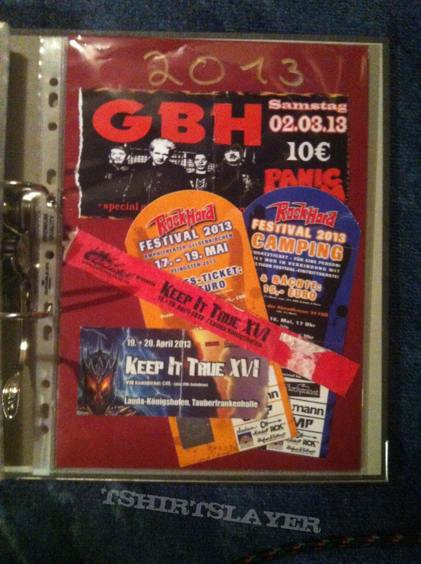 Gig´s and Festival Tix Collection -2013-