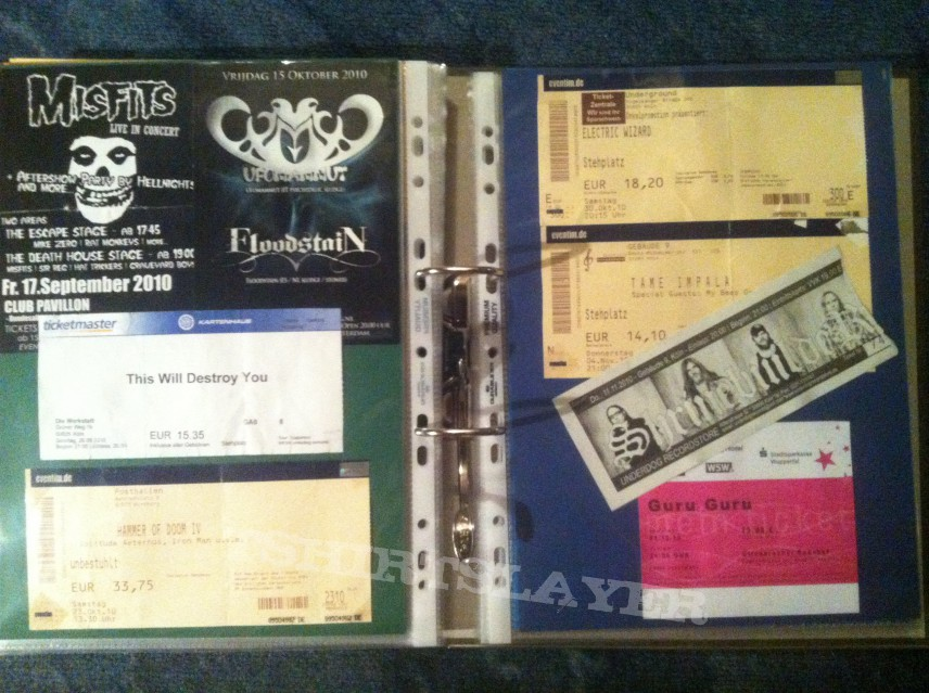 Gig´s and Festival Tix Collection -2010-