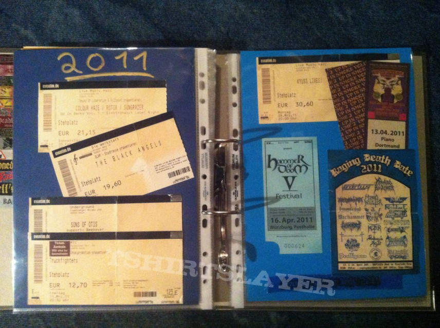 Gig´s and Festival Tix Collection -2011-