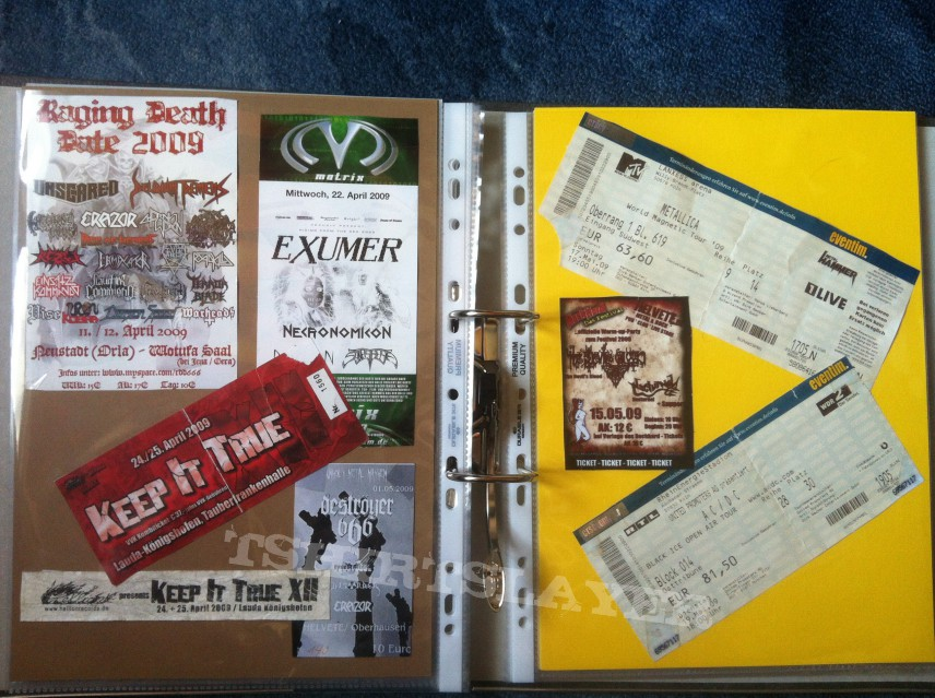 Gig´s and Festival Tix Collection -2009-