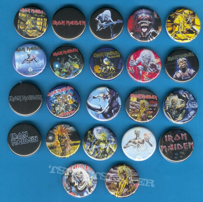 Other Collectable - Iron Maiden buttons