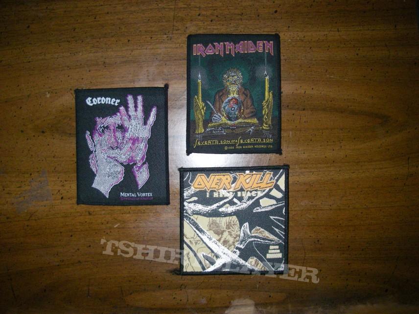 Coroner, Overkill, Iron Maiden