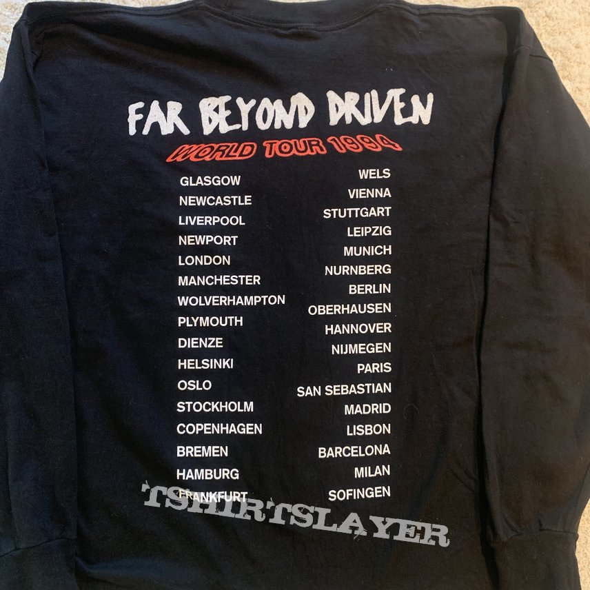 Pantera - Far Beyond Driven tour ´94 LS