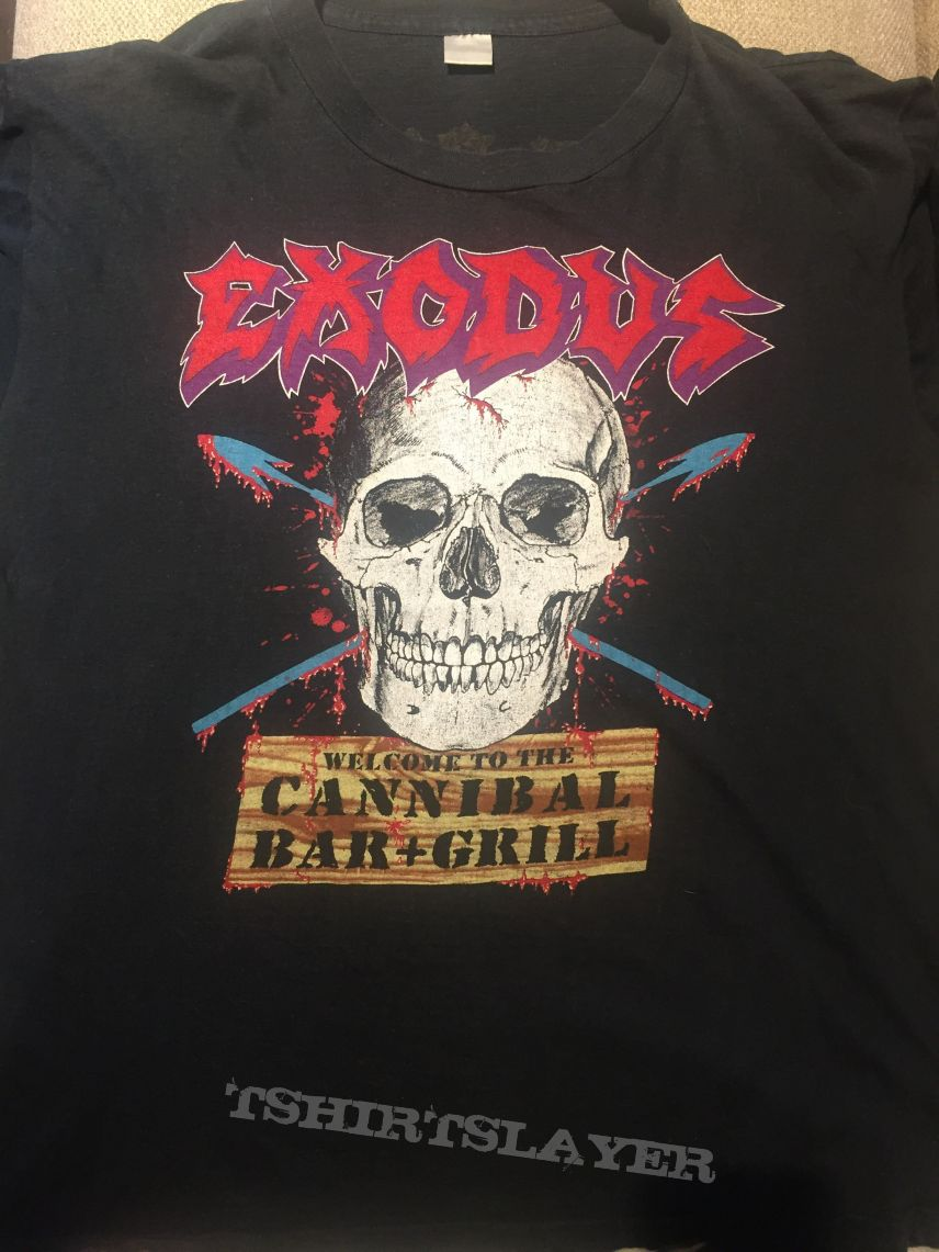 Exodus - Cannibal Bar & Grill / meat party tour 87-88 shirt