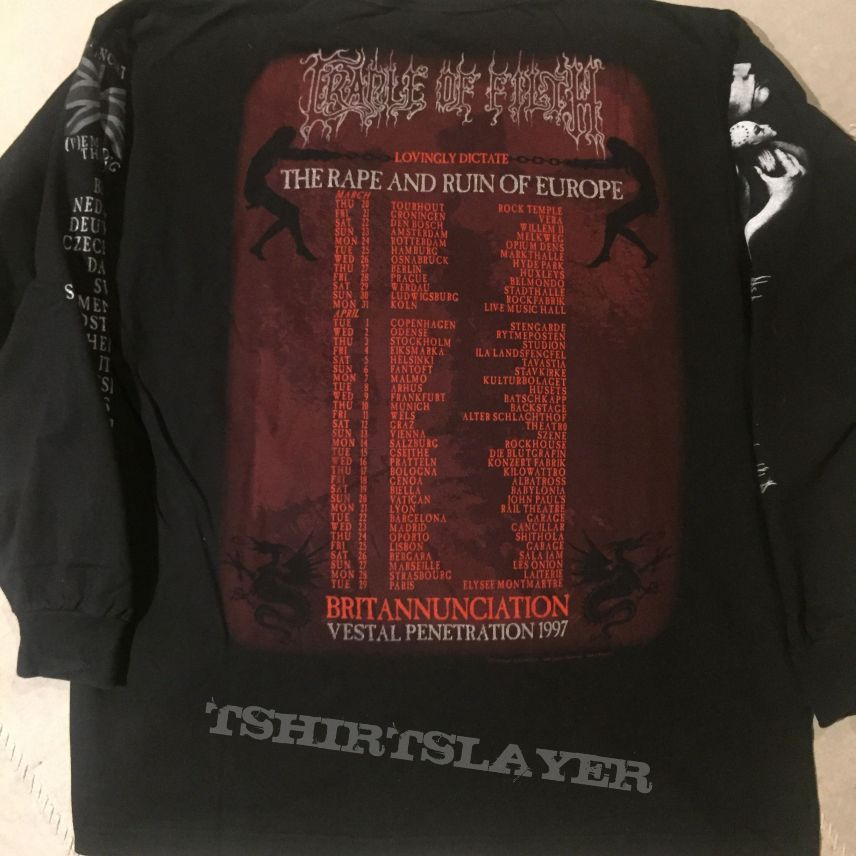 Cradle of Filth - The Rape And Ruin Of Europe longsleeve