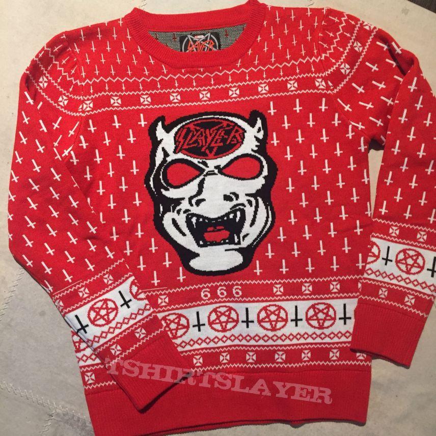 Slayer Christmas Sweater Tshirtslayer Tshirt And Battlejacket Gallery