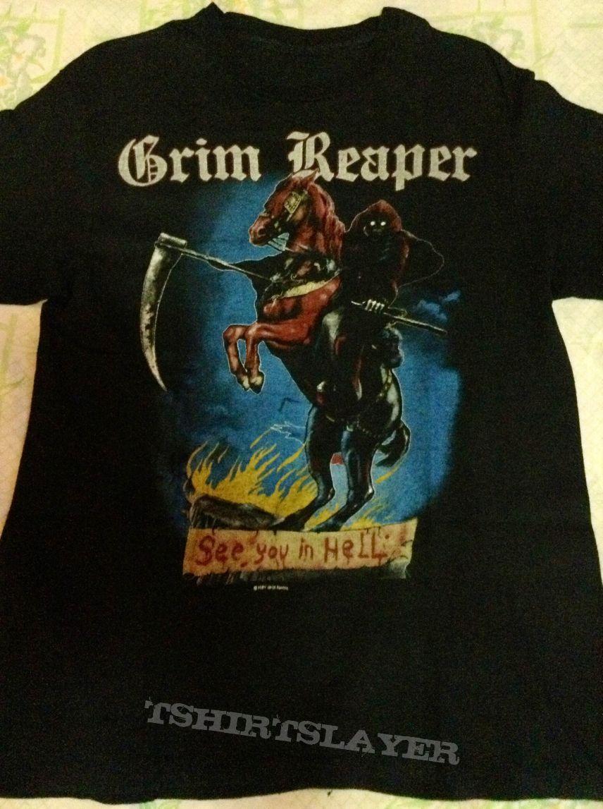 TShirt or Longsleeve - Vintage GRIM REAPER See You In Hell shirt