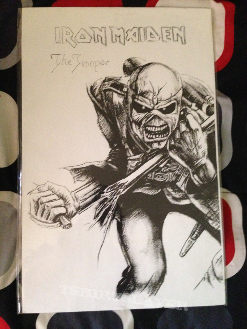 Iron Maiden The Trooper Poster Drawing