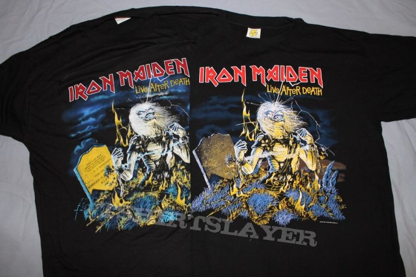 Iron Maiden Live After Death 92 1-sided