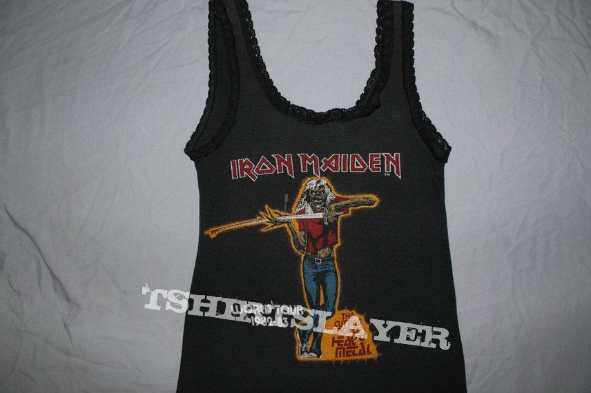Iron Maiden Cutting Edge black lace singlet