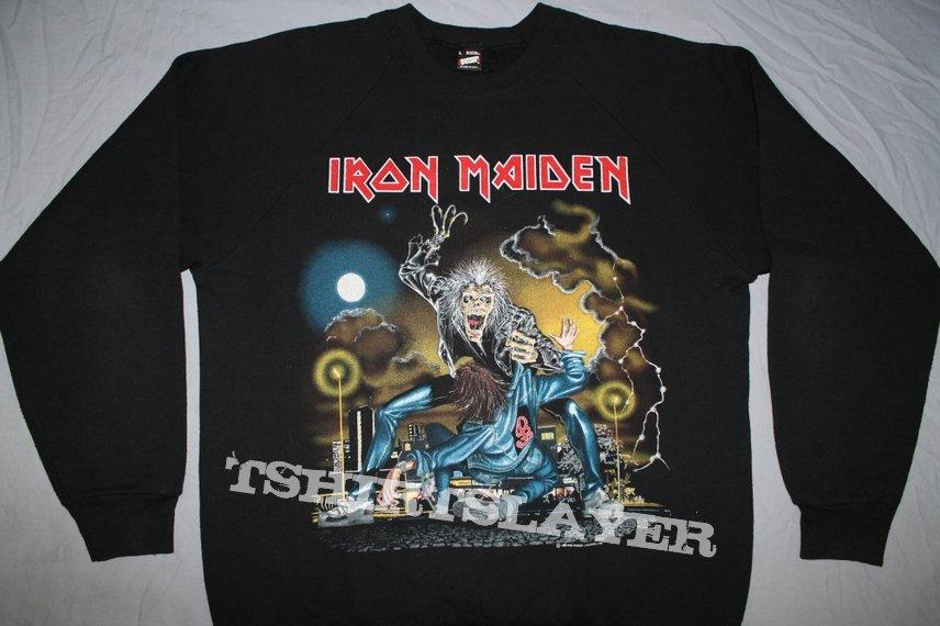 Iron Maiden Europe 1990 No Prayer on the Road w/Vienna sweatshirt