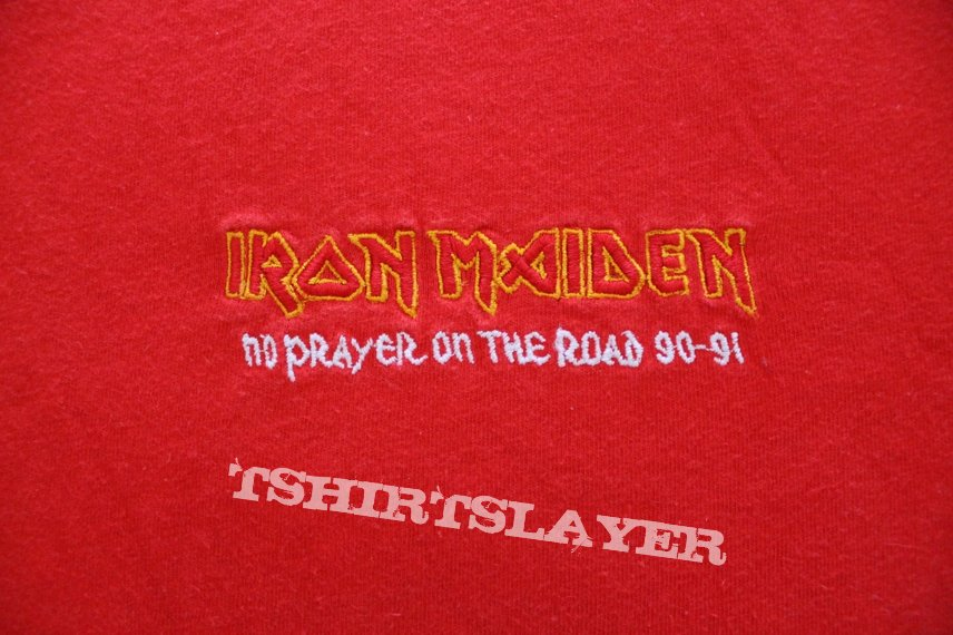 Iron Maiden No Prayer on the Road red crew T