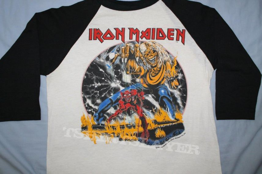 *NEW* IRON MAIDEN NUMBER OF THE BEAST BLACK T SHIRT 3-6 6-12 12-18 Mth