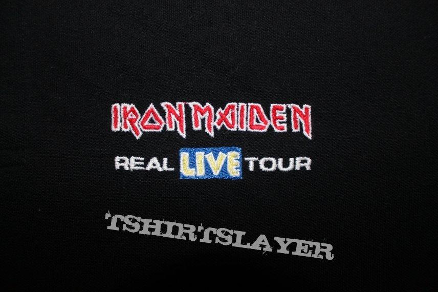 Iron Maiden A Real Live Tour crew polo