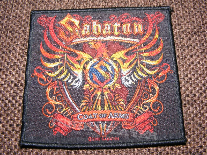 Sabaton - coat of arms patch