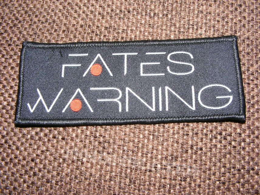 Fates Warning new  logo patch