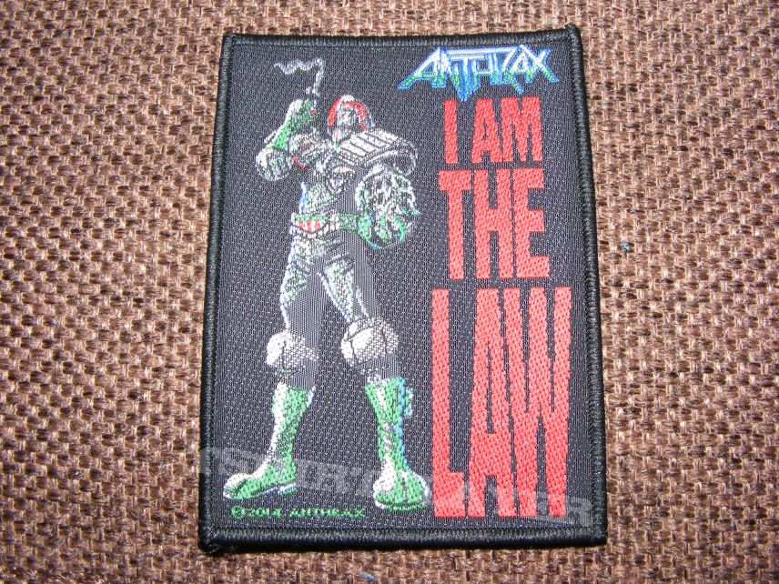 Anthrax - i am the law patch