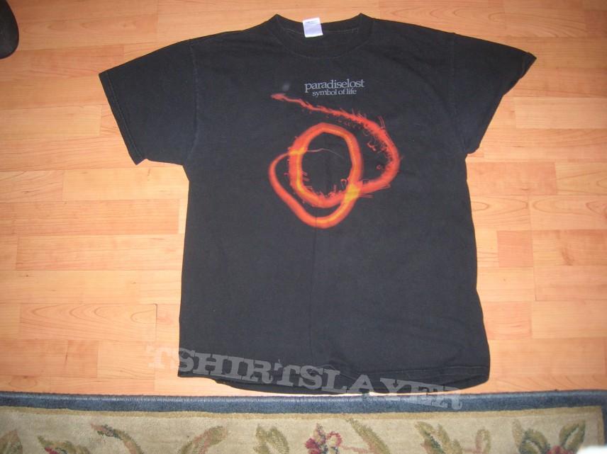 Paradise Lost Symbol Of Life Ss Tour Shirt 2002 03 Tshirtslayer
