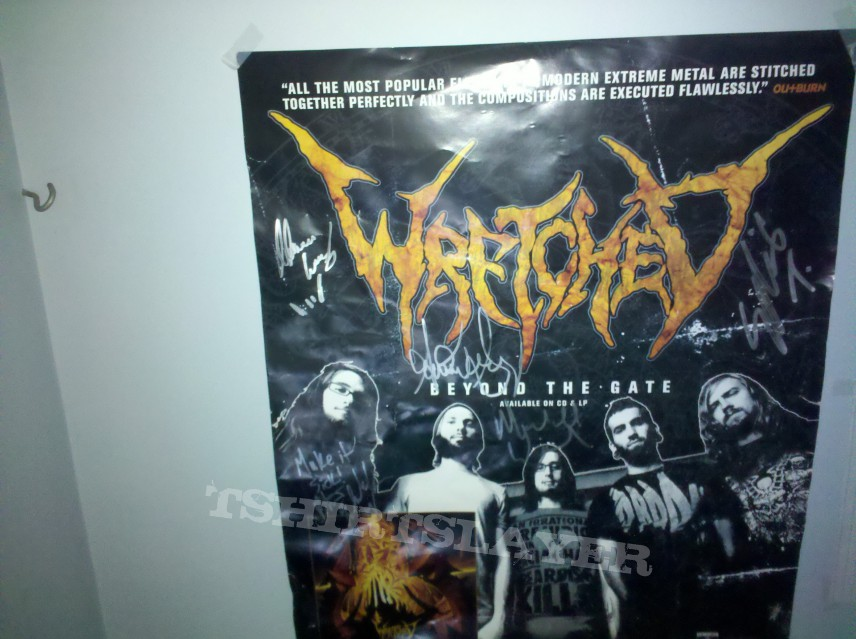 Signed Wretched poster