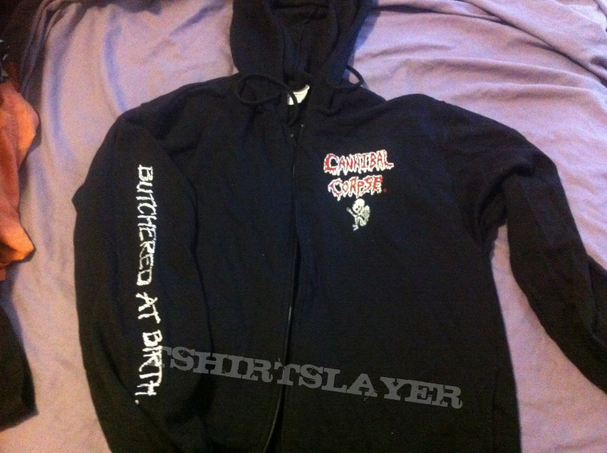 003ee3f6bd6 Cannibal Corpse butchered at birth zip hood (Barnes Collection ...