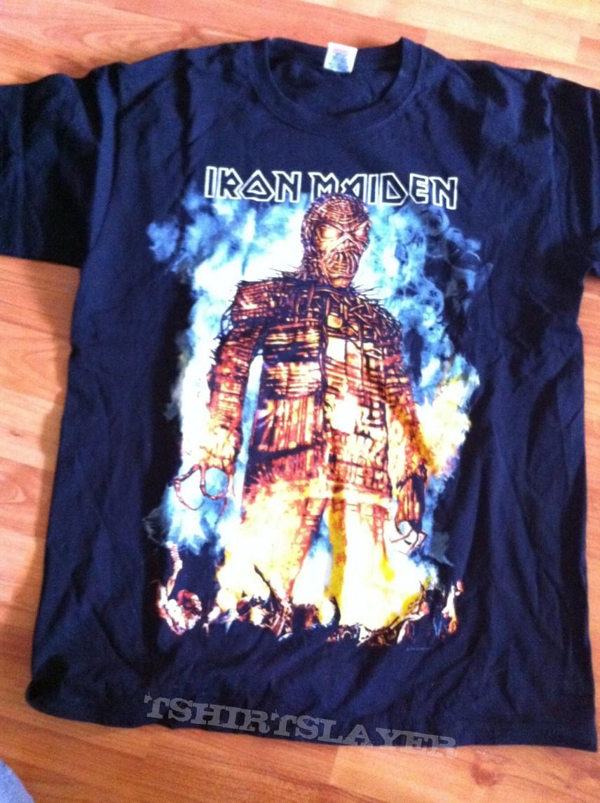 82e3ca9d Iron Maiden- Wicker man/Final Frontier tour | TShirtSlayer TShirt ...