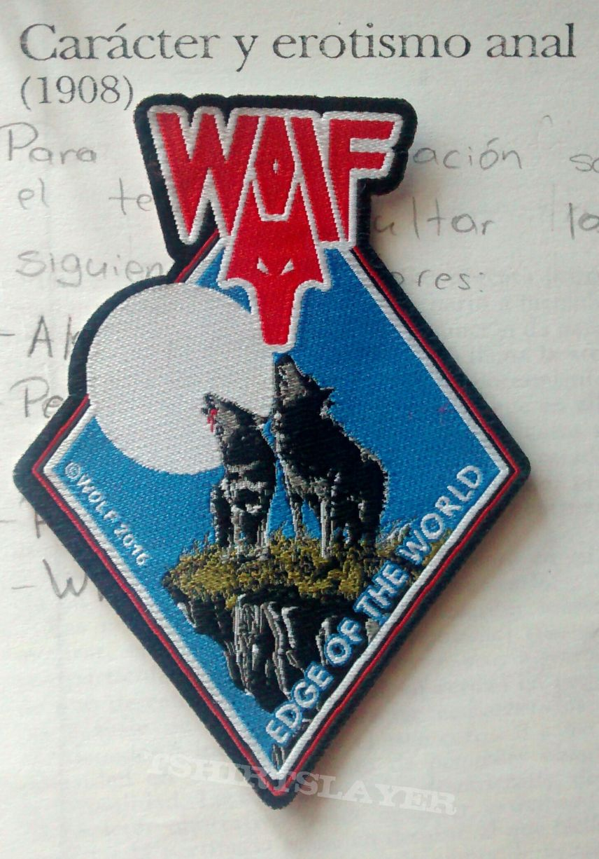"Wolf - ""Edge of the World"" official woven patch"