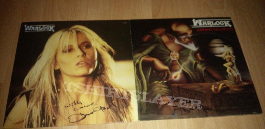 Signed Warlock LP's.
