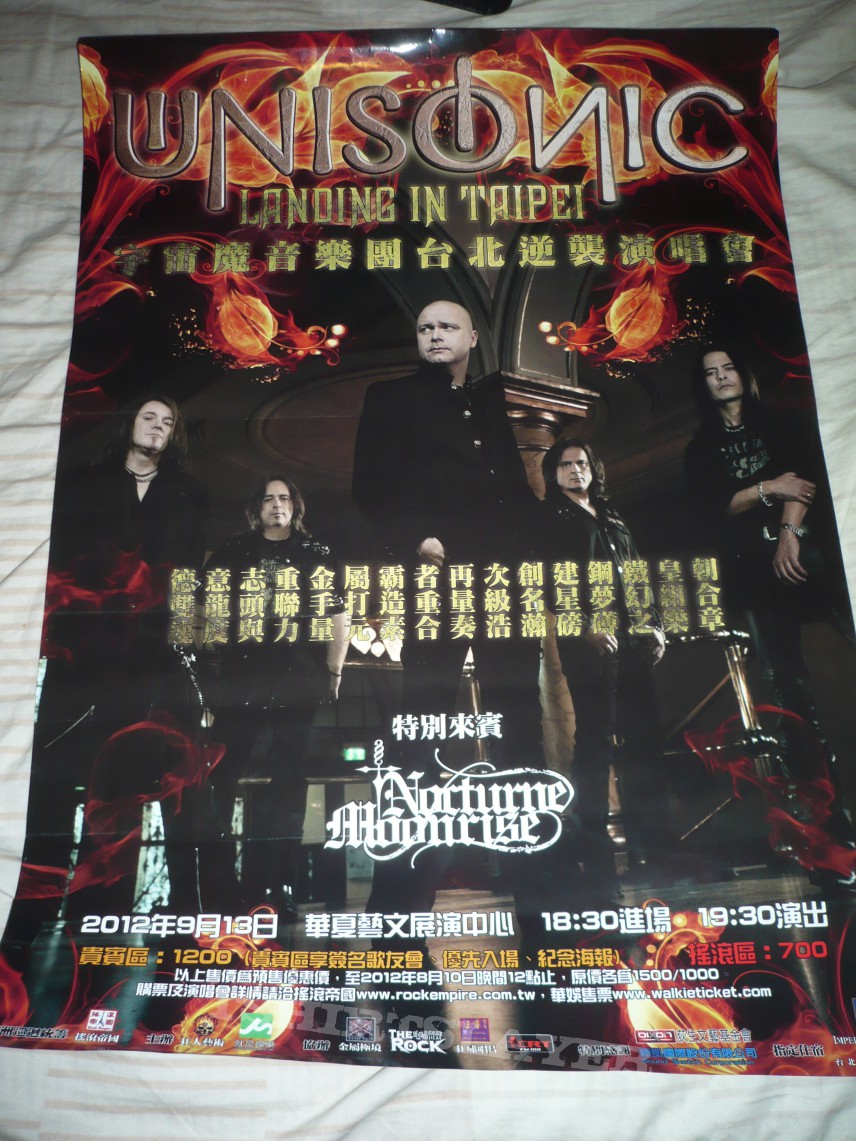 Other Collectable - Unisonic Live in Taipei 2012 poster