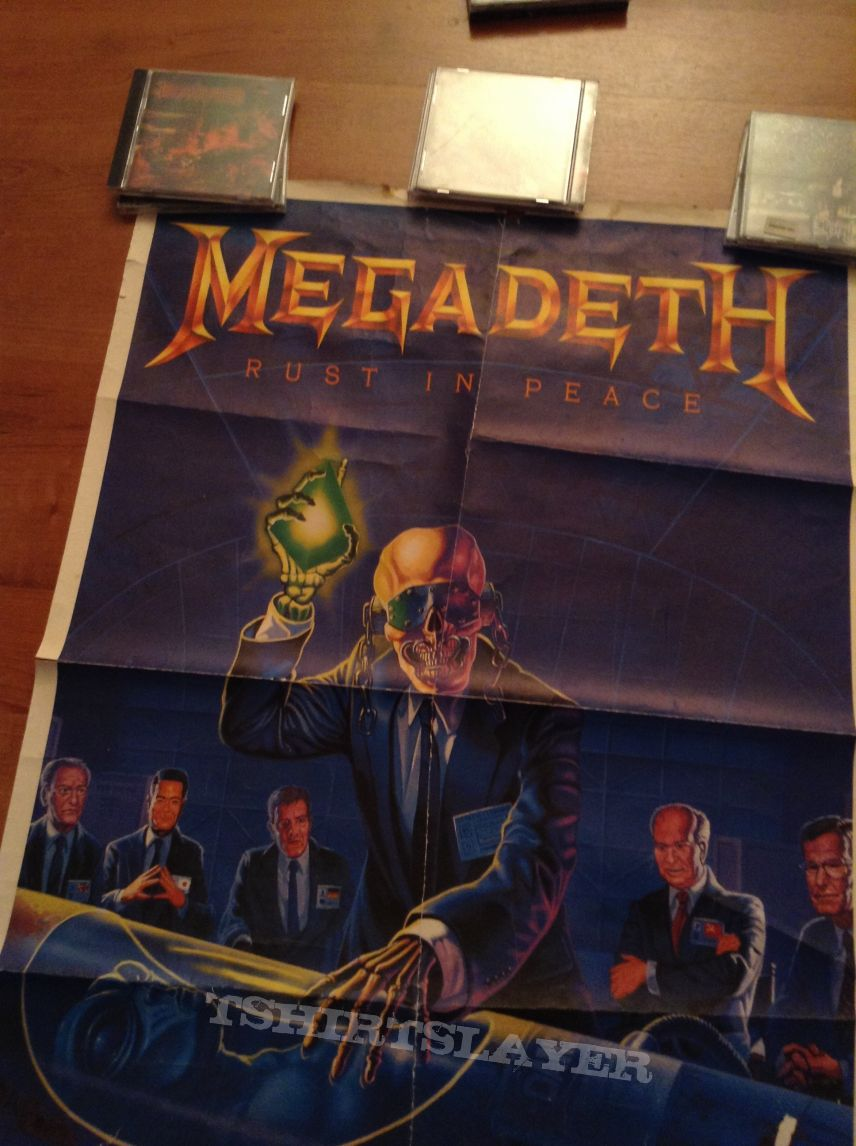 Megadeth Rust In Peace poster 1990