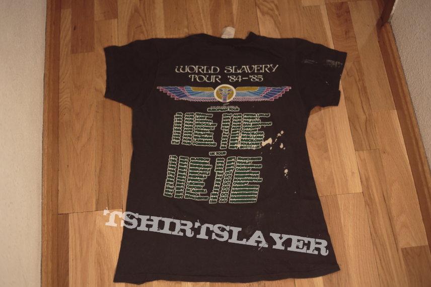 "Iron Maiden ""Powerslave"" tour shirt"