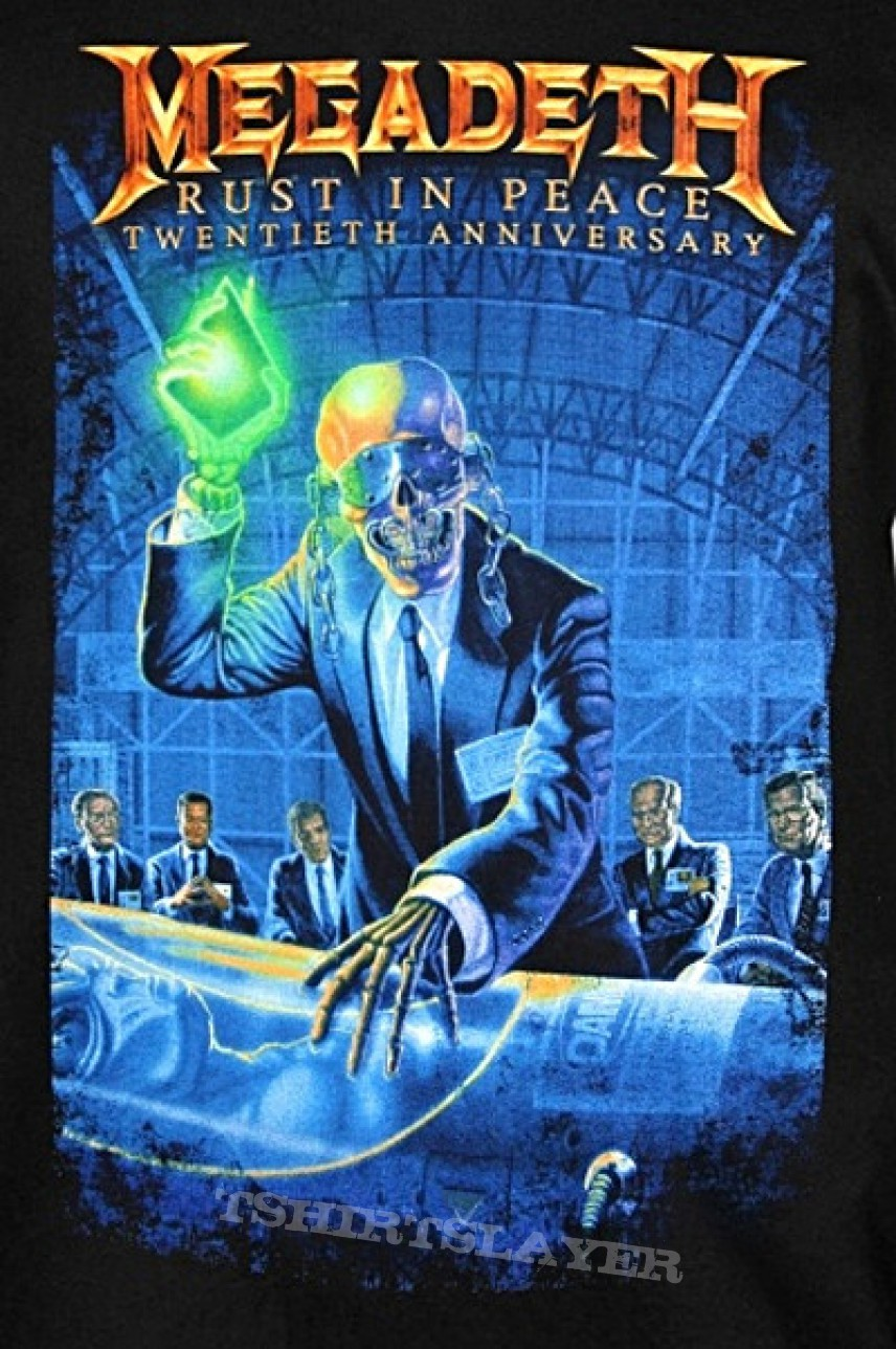 Megadeth Rust In Peace 20th Annivesary T Shirt