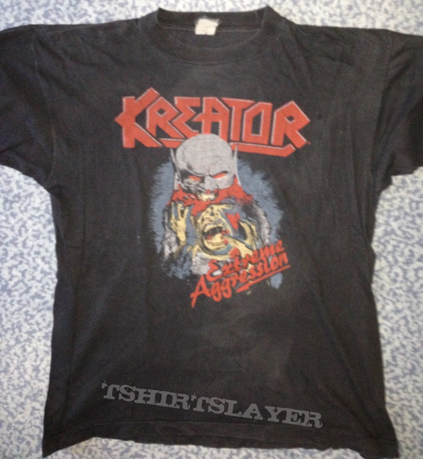 Kreator Extreme Aggression Tour Shirt 89 Tshirtslayer