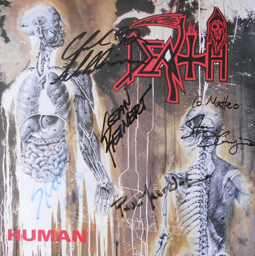 death human lp 1991 signed by chuck schuldiner masvidal