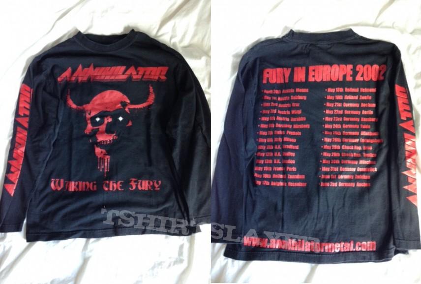 Annihilator Waking the Fury longsleeve 2002 tour