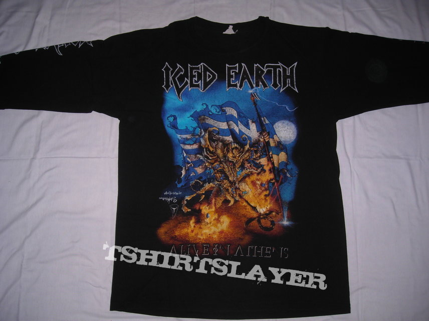 Official Iced Earth Horror Show T-Shirt Merch Alive In Athens Dystopia Burden