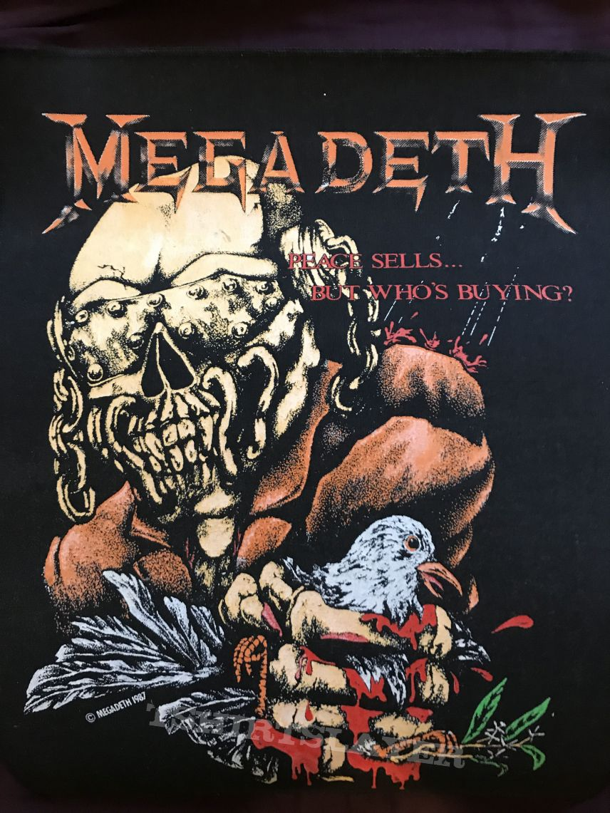 Megadeth Peace Sells Vic crushing bird rare and official backpatch