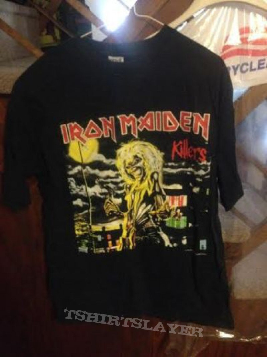 8ddfed31e7 Iron Maiden  quot killers quot  t-shirt 1997 pressing