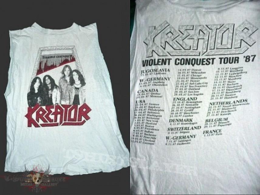 TShirt or Longsleeve - Kreator - Violent Conquest Tour 1987