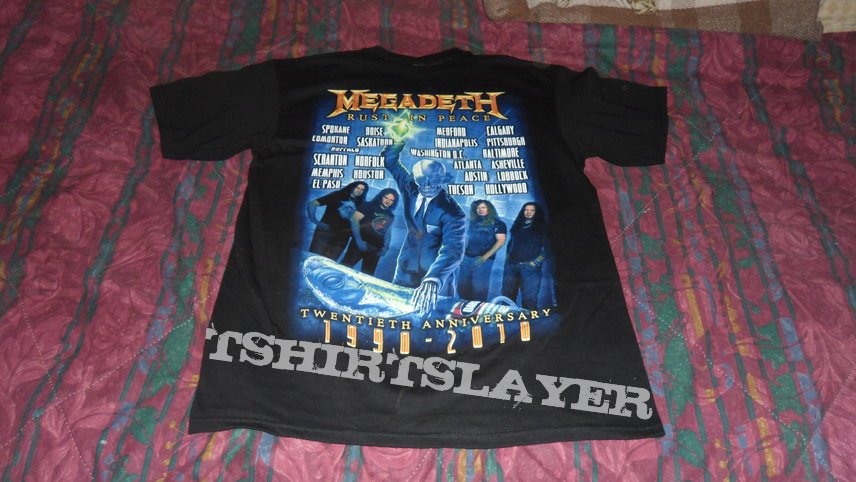 Megadeth 'Rust In Peace' 20th Anniversary T-shirt
