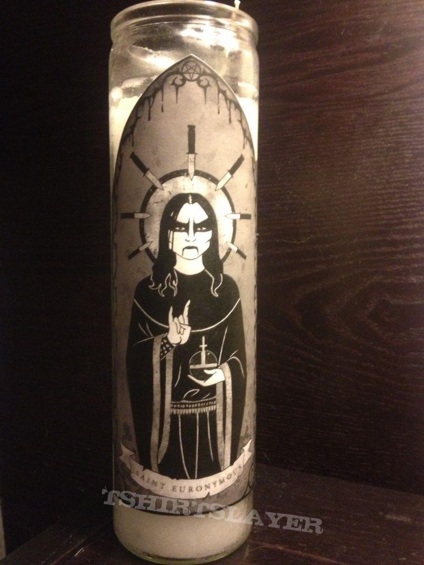 Saint Euronymous-Black Metal Prayer Candle | TShirtSlayer TShirt and