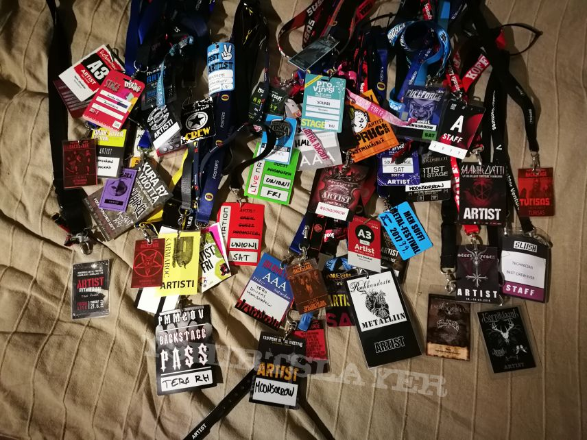 Backstage pass collection