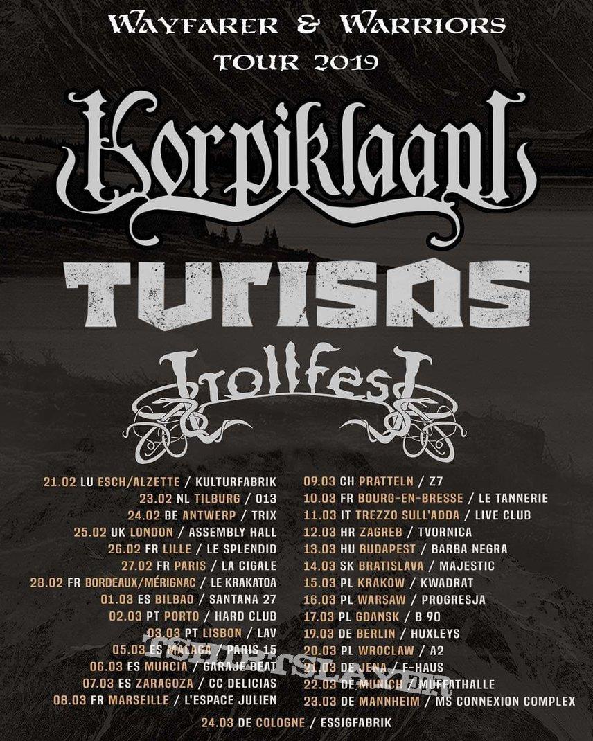 Korpiklaani Eurotour poster