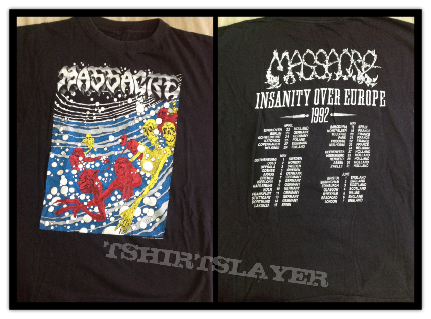 Massacre from beyond europe tour alternative shirt cover