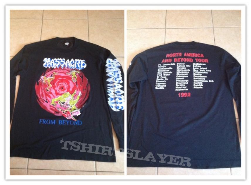 MASSACRE  from beyond tour long sleeve no monsters on the sleeve