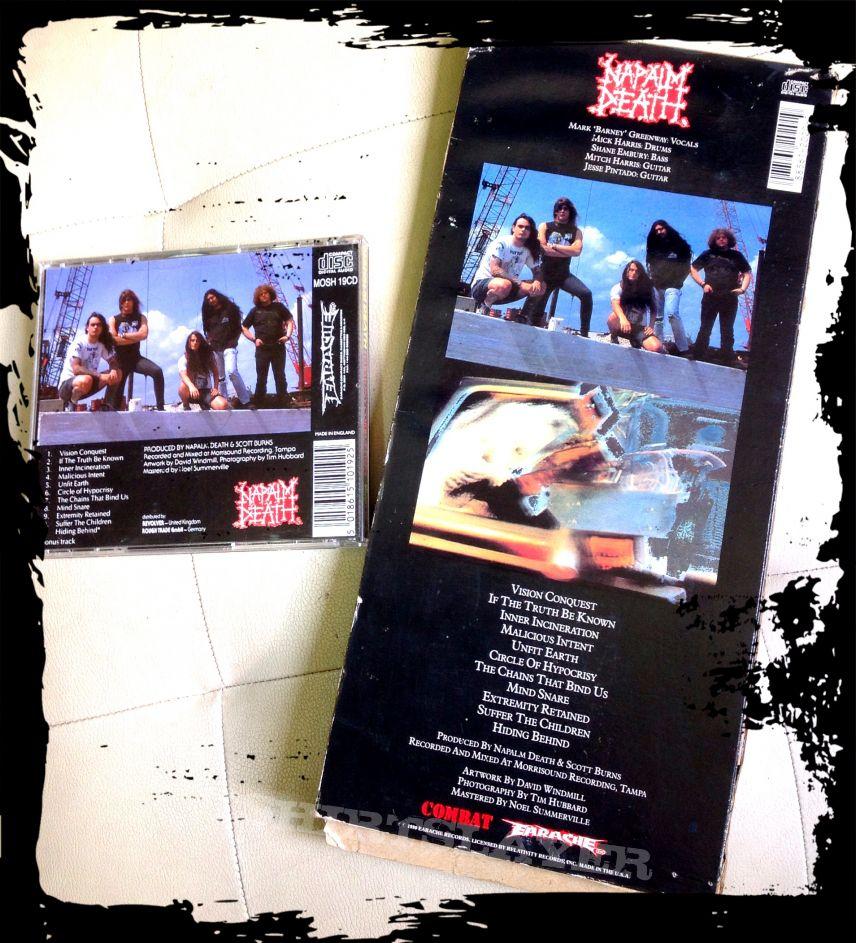 Napalm Death HARMONY CORRUPTION longbox 1990