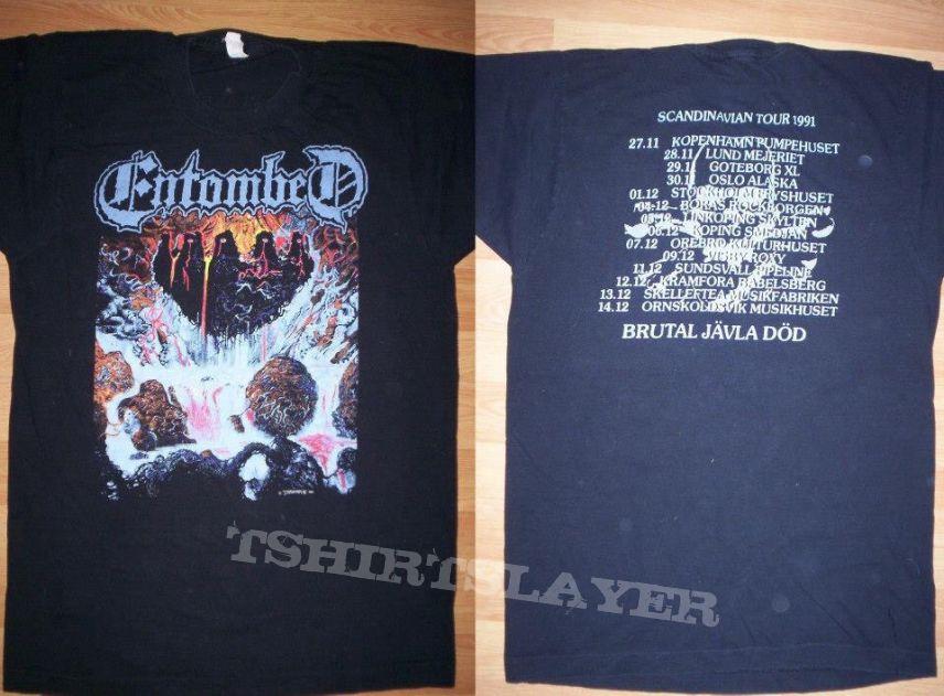 Entombed clandestine tour shirt (one of my fav shirts) earache