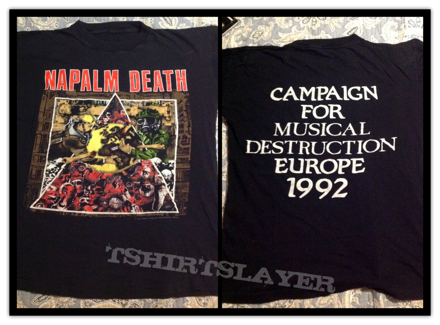 NAPALM DEATH og vintage shirt 1992 tour