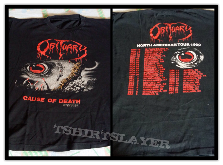 Obituary COD vintage US tour tee
