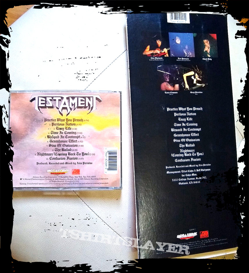 TESTAMENT practice what your preach LONGBOX