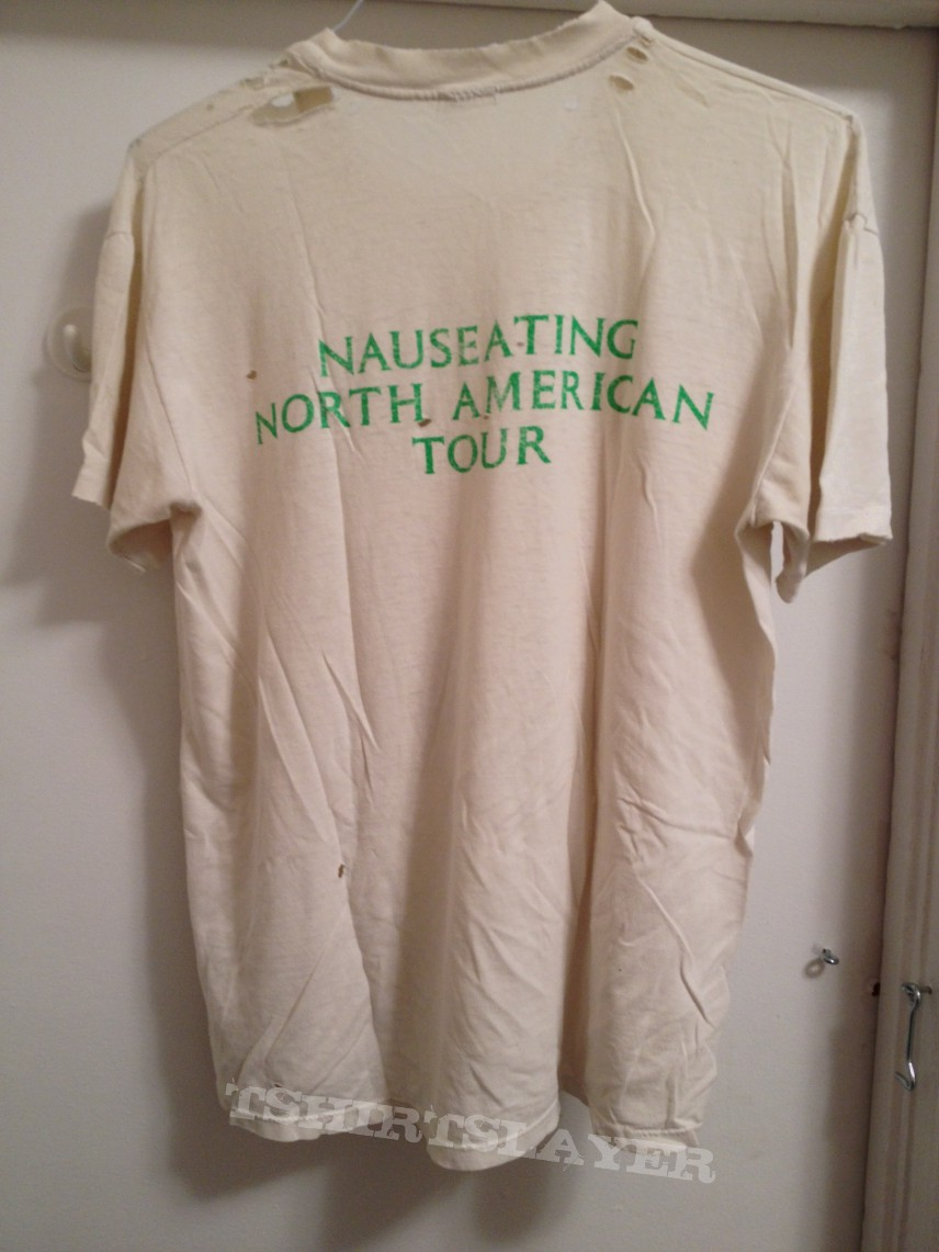 Carcass Nauseating North American Tour T-shirt 1988